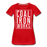 Women's Premium CIW White Logo T-Shirt - red
