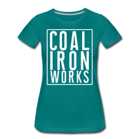 Women's Premium CIW White Logo T-Shirt - teal
