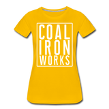 Women's Premium CIW White Logo T-Shirt - sun yellow