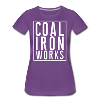 Women's Premium CIW White Logo T-Shirt - purple