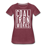 Women's Premium CIW White Logo T-Shirt - heather burgundy