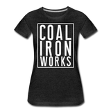 Women's Premium CIW White Logo T-Shirt - charcoal gray