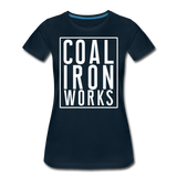 Women's Premium CIW White Logo T-Shirt - deep navy