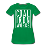 Women's Premium CIW White Logo T-Shirt - kelly green