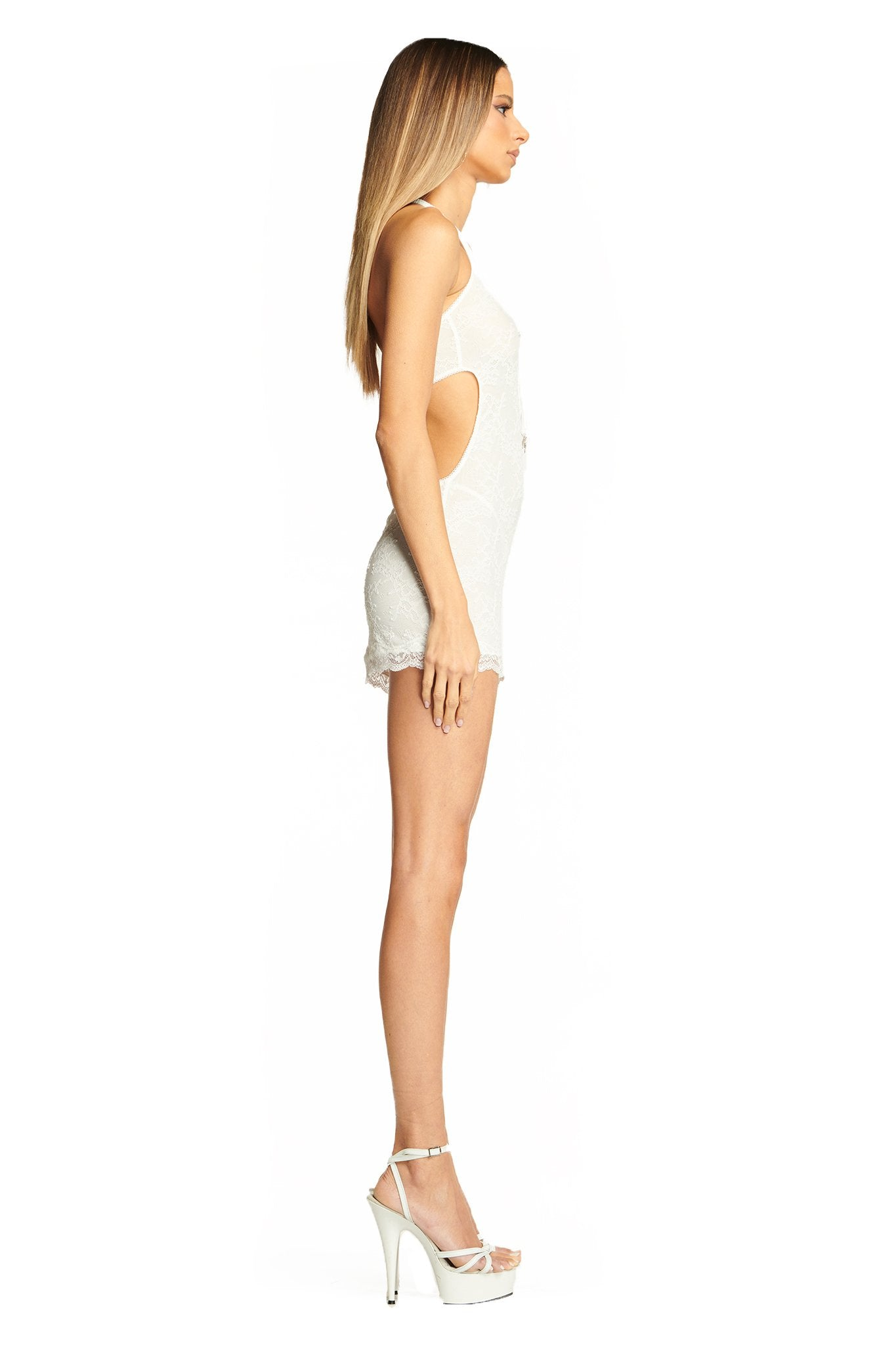 BRANDY SLIP DRESS - WHITE