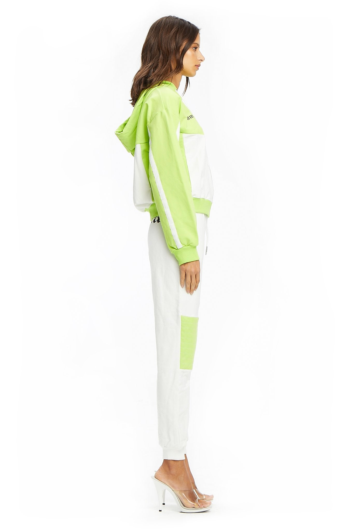 CHYNA TRACKPANT - WHITE/GREEN