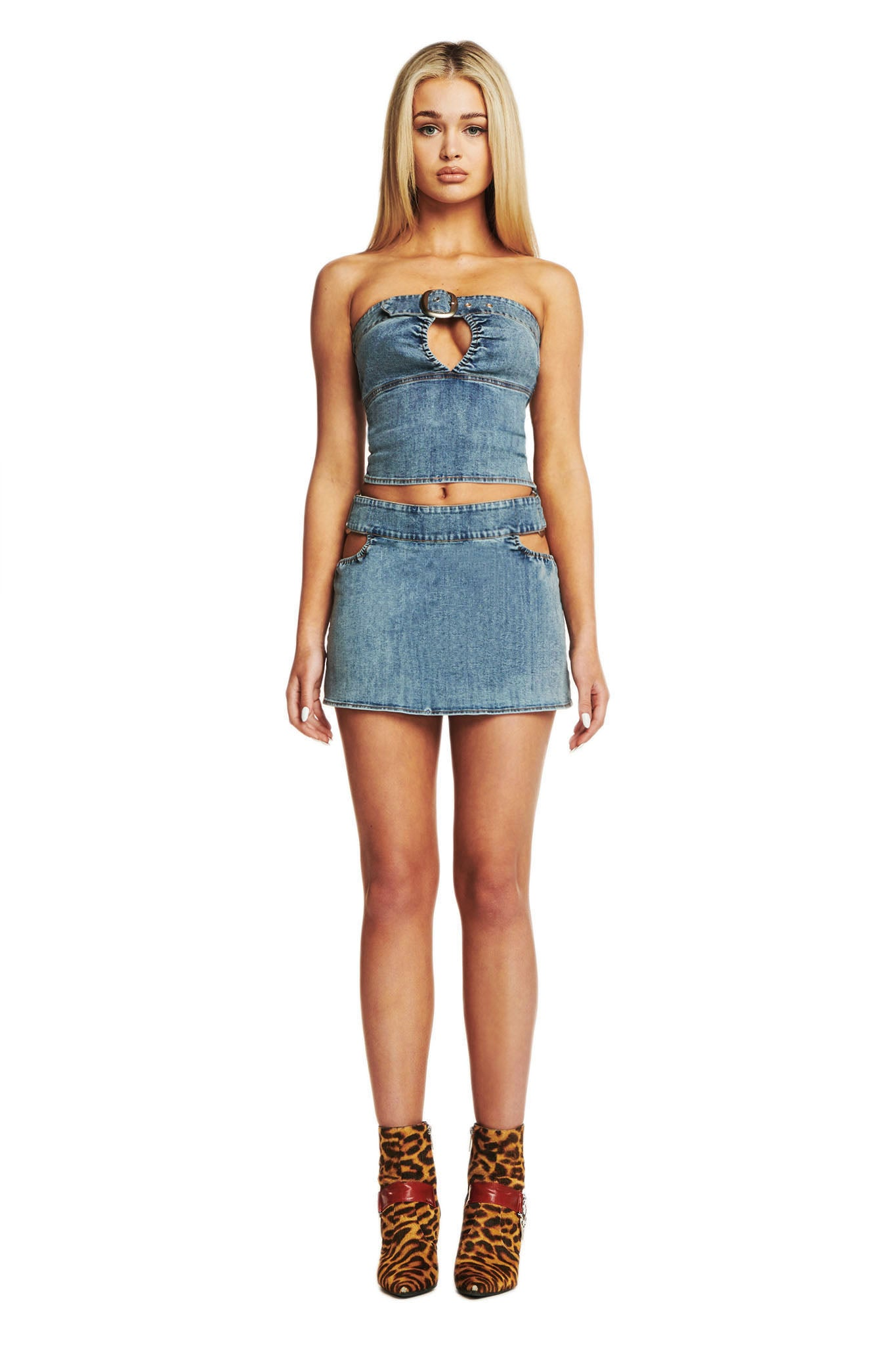 DREW SKIRT - DENIM
