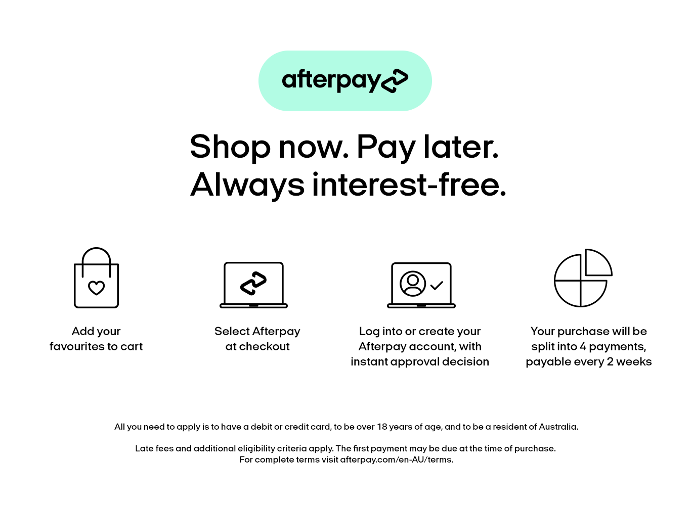 Afterpay info banner