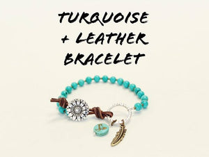 Leather and Turquoise Bracelet Kit