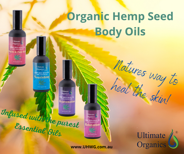 NOURISHING - Organic Hemp Seed Body Oil w Essential Oils