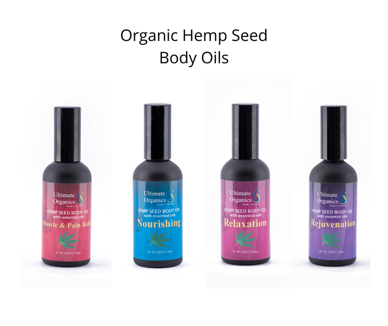 RELAXATION - Organic Hemp Seed Body Oil w Essential Oils