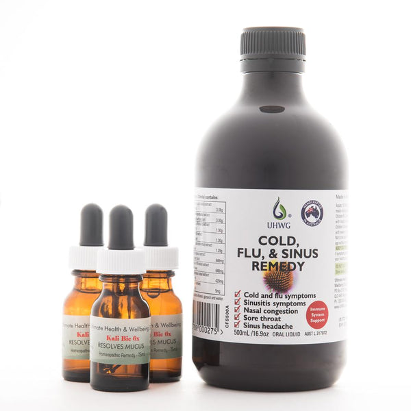 Cold, Flu, and Sinus Remedy (Previously called Sinus Tonic) - Initial Order Pack