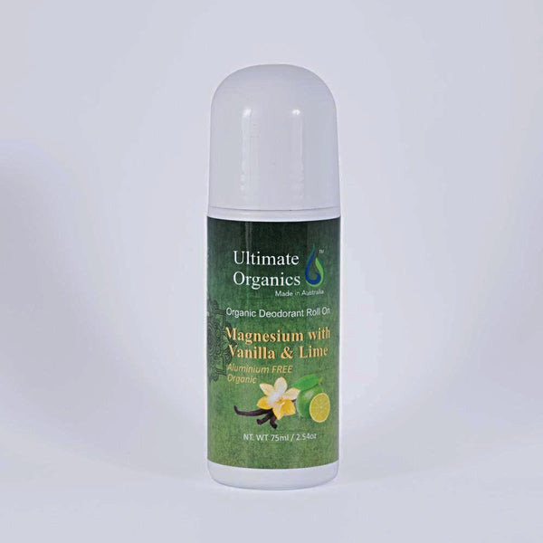 Organic Deodorants Roll on - Vanilla & Lime
