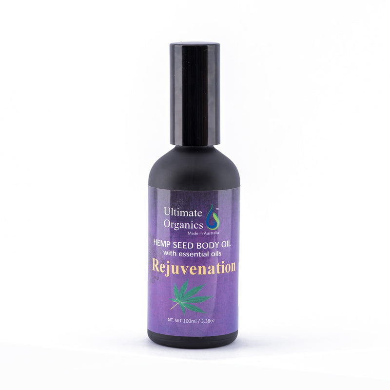 REJUVENATION - Organic Hemp Seed Body Oil w Essential Oils