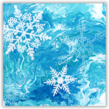 Original Painting of Snowflakes