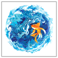 Original Painting of Goldfish