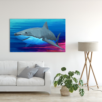 Original Painting of Great White Shark