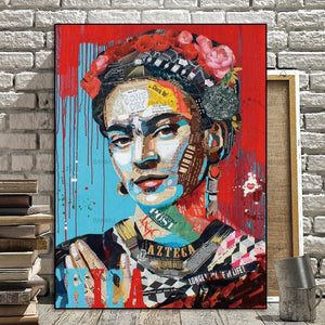 Frida Kahlo on canvas no frame