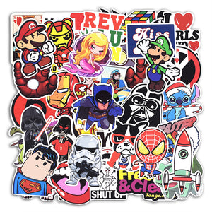 100 Pcs Mixed Stickers