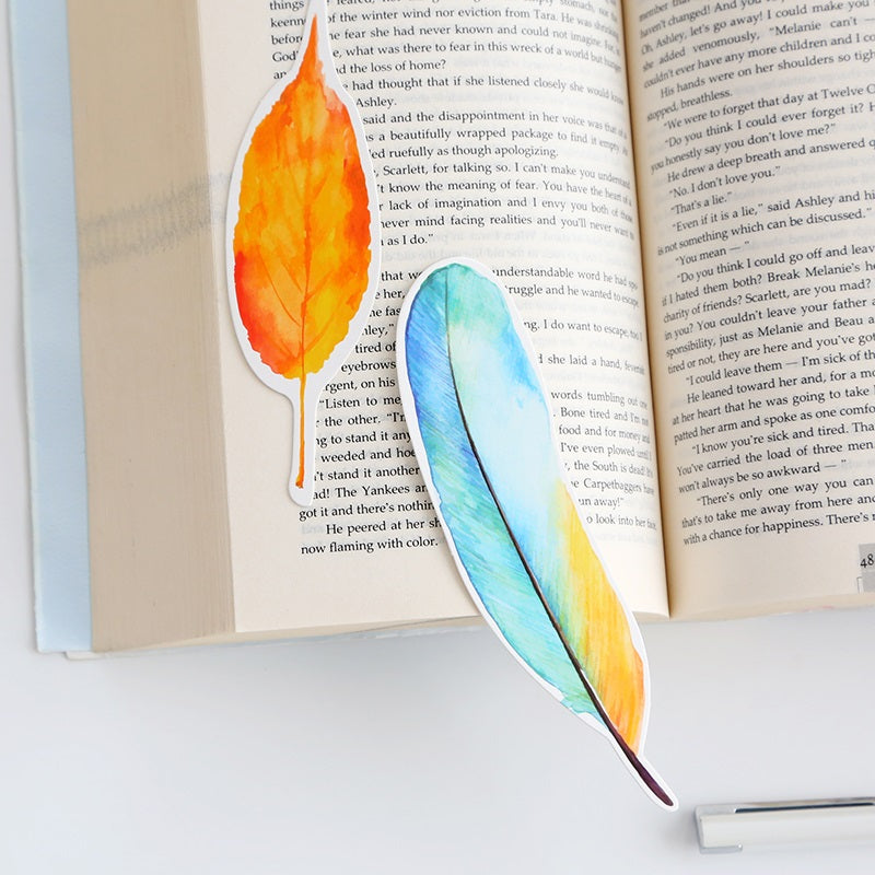 30 Pcs/lot Cute Creative Colorful Feather Paper Bookmark Stationery Bookmarks Book Clip Office Accessories School Supplies