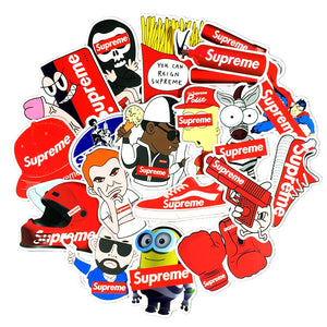 50 Pcs Supreme stickers