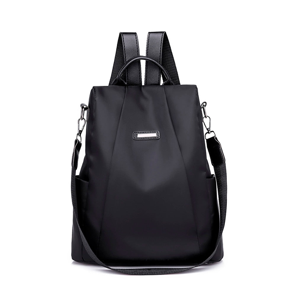 Women Solid ZipperTravel backpack Female