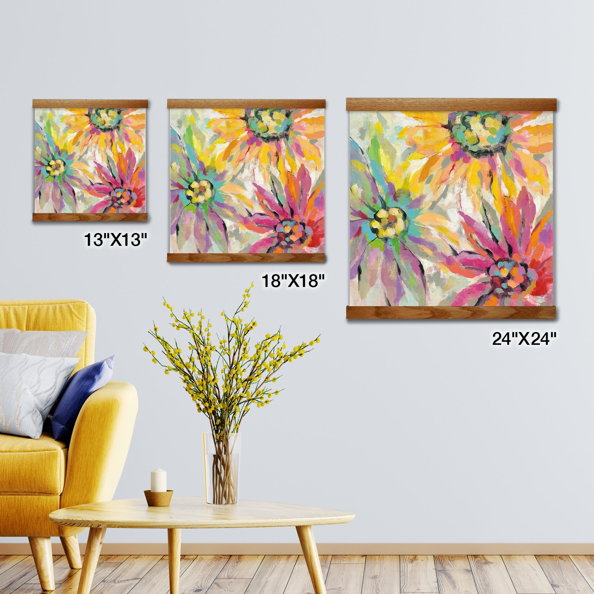 Abstracted Petals Artwork Framed
