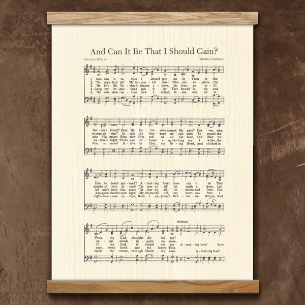 Hymn Framed Canvas Artwork Wall Decor Amazing Grace All Hail The Power And Can It Be