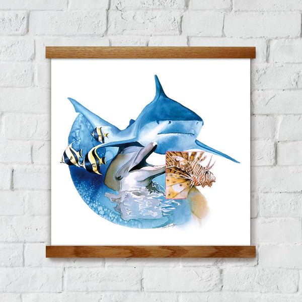 Sea Animals Artwork Wall Decor