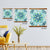 Garden Getaway Tile VIII Teal Artwork Wall Decor