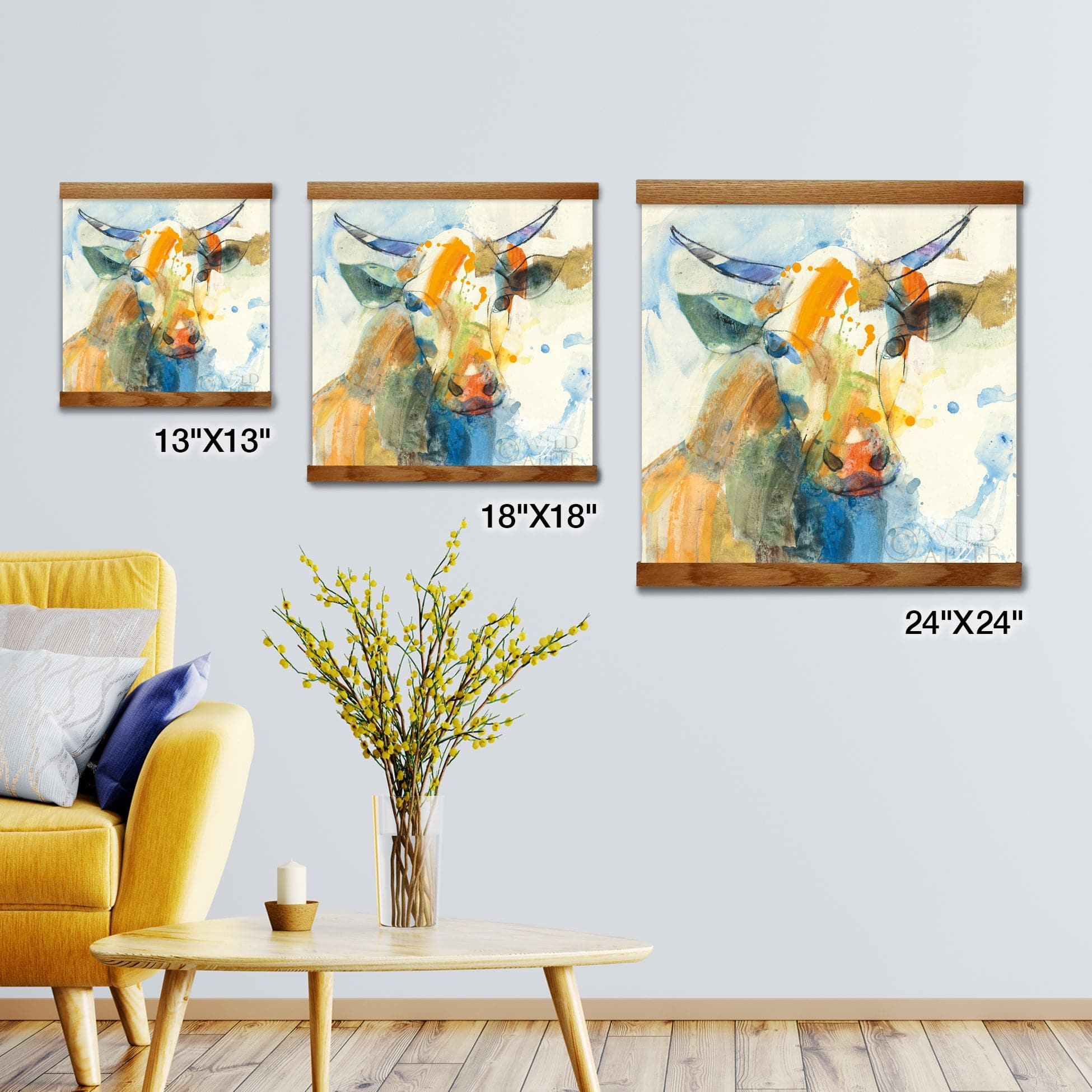 Happy Cows I Artwork Wall Decor