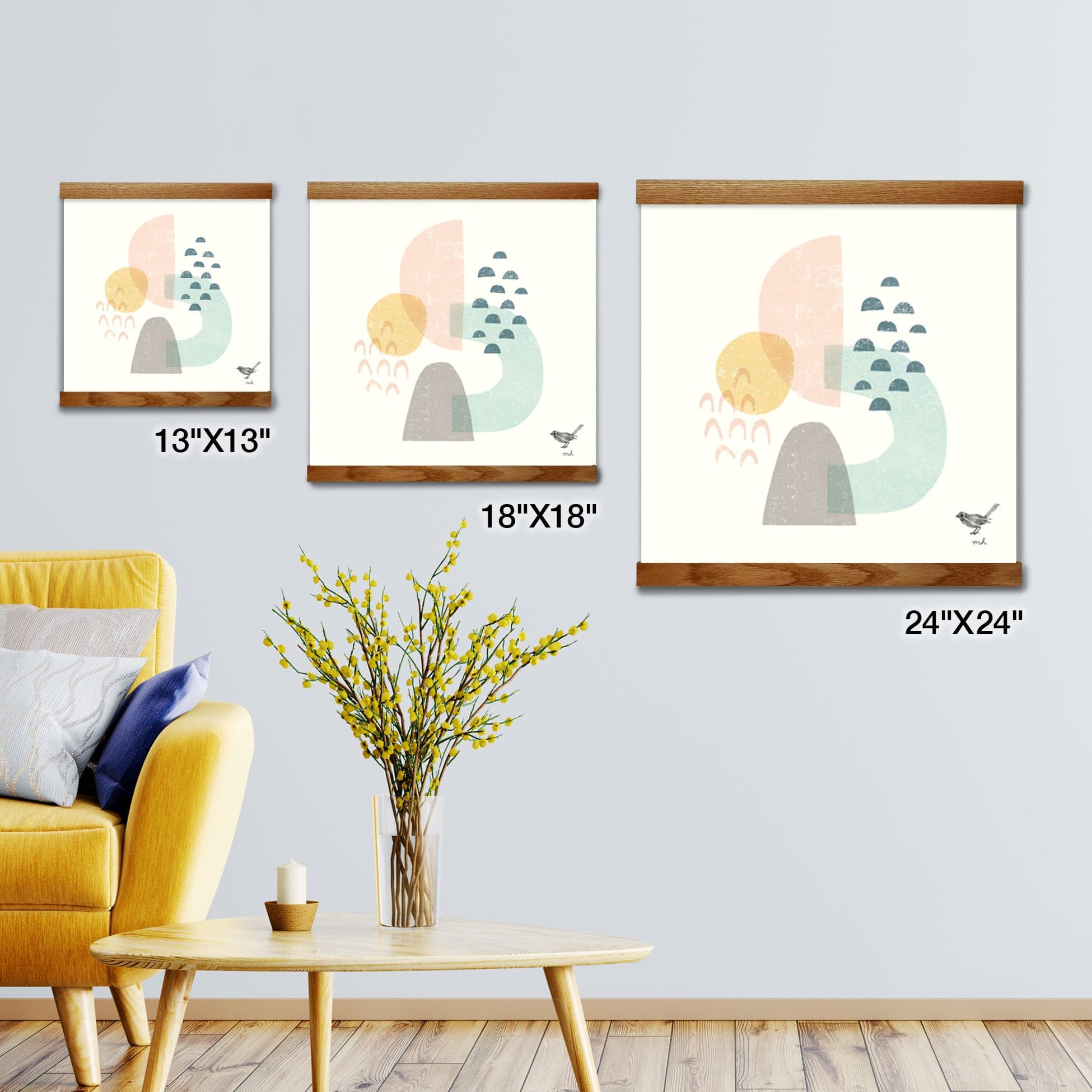 Happy Thoughts I Artwork Wall Decor