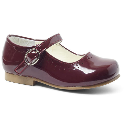 Abbey Burgundy Girls Shoe