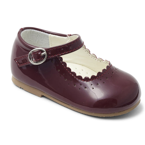 Emma Burgundy girls shoe