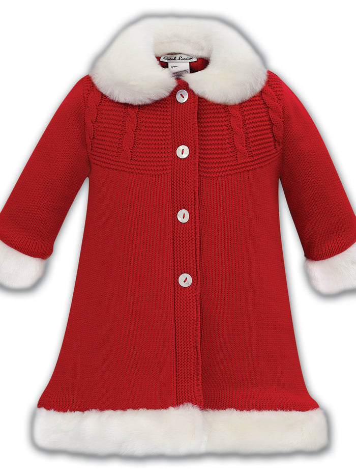 Sarah Louise Red Woolen Coat