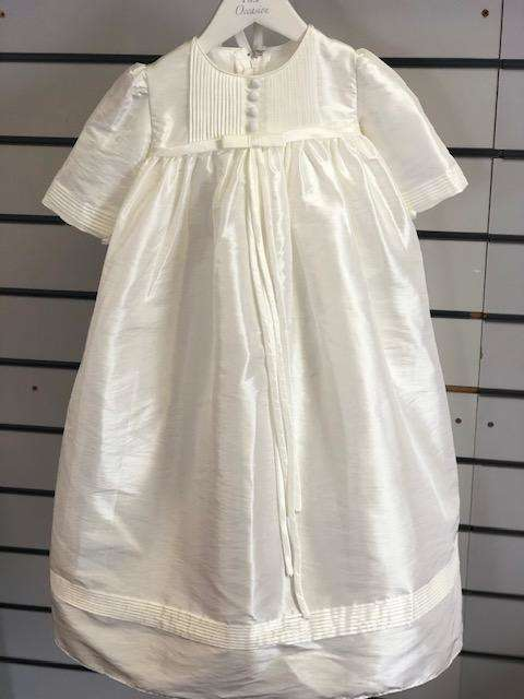 """Mary"" Full length Ivory Christening Robe Age 0-6 Months"