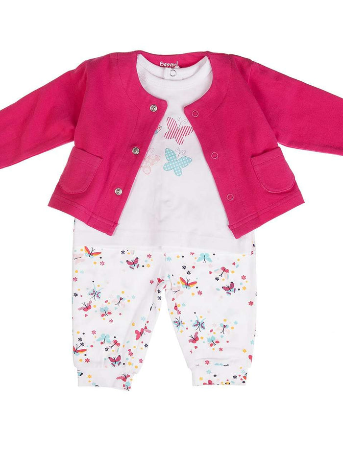 3 Piece Baby girls outfit by Babybol Barcelona
