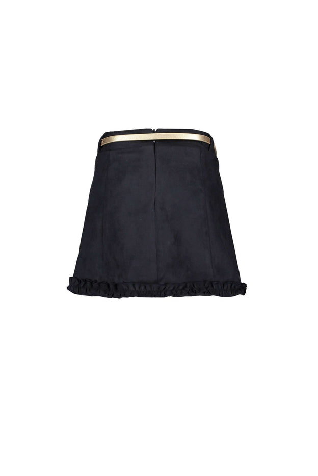 A Line Suede Look Skirt by Le Chic