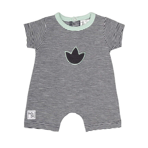 Adorable Green & Grey Romper by Baby Bol - 10830