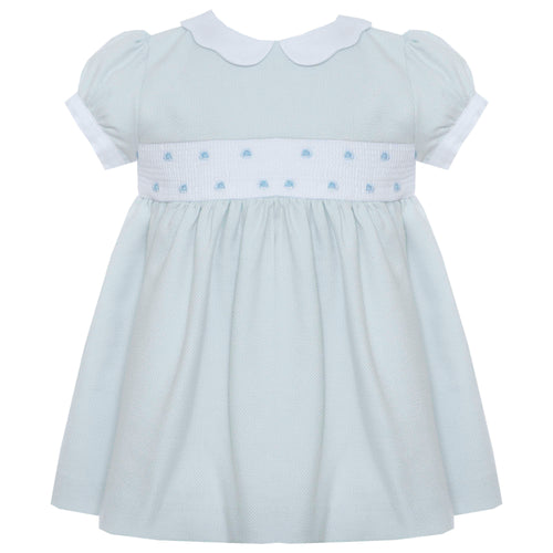 Baby doll dress in Melange Blue by Patachou