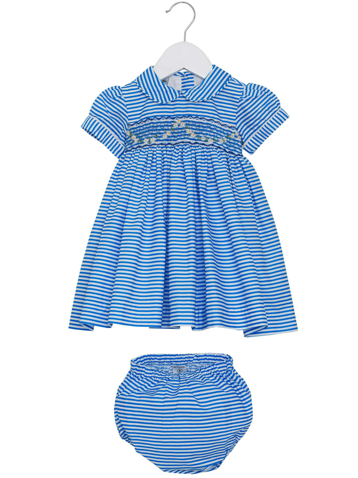 Baby Hand Smocked Lara Dress by Little Larks