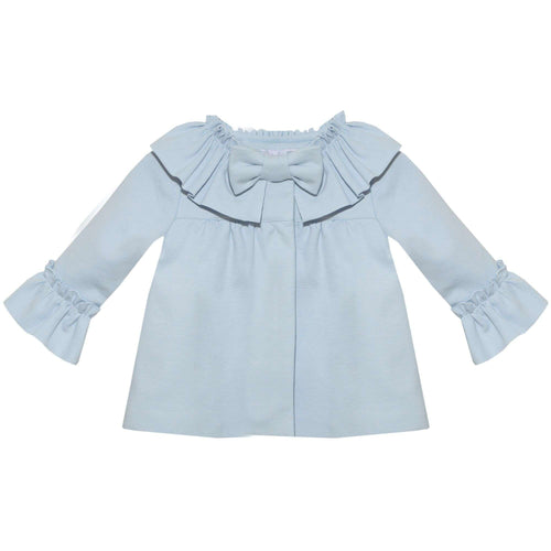 Baby Interlock Bow Blue Coat by Patahcou