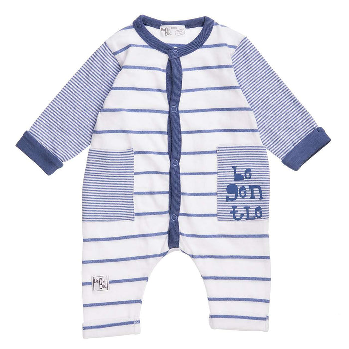Be Gentle Babygro in beautiful blues by Babybol - 10815