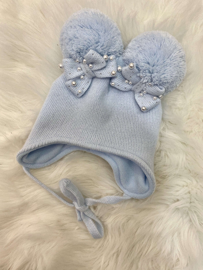 Blue Double Bow Hat