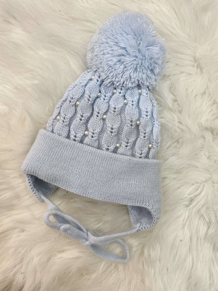 Blue Pearl Cable Hat