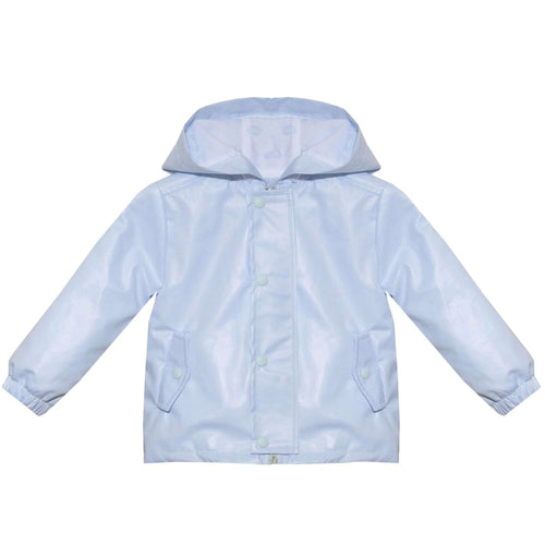 Cotton Oxford Blue Raincoat by Patachou