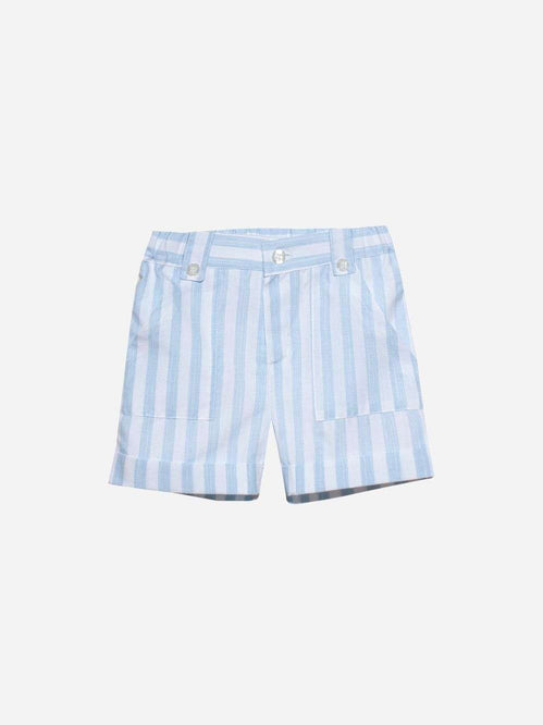 Cotton Striped Blue and White Shorts by Patachou