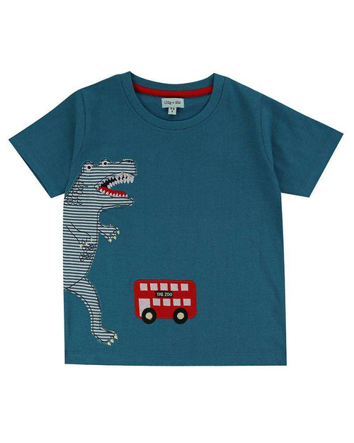 Dino Bus Applique T-Shirt by Lilly & Sid