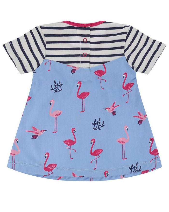 Flamingo Fabric Mix Dress by Lilly & Sid