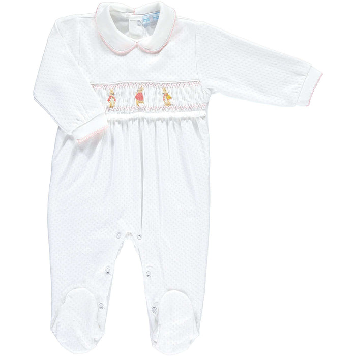 Flopsy Mopsy Smocked Knit Footsie